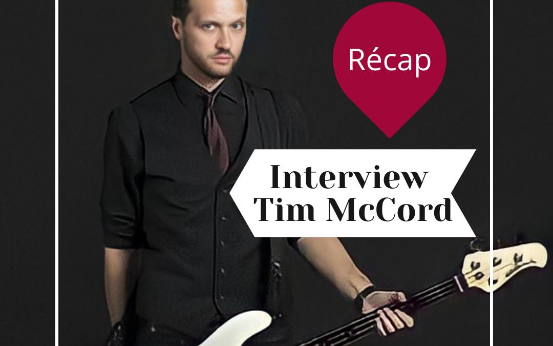 Ce que vous devez savoir sur notre interview de Tim McCord